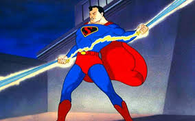 Superman holds Electricity to Save the City