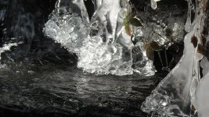 Ice in Debra's creek in VT.